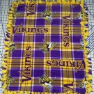 Minnesota Vikings Blanket Plaid Fleece Baby Pet Dog NFL Football Shower Gift