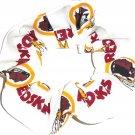Washington Redskins White Fabric Hair Scrunchies Ties NFL