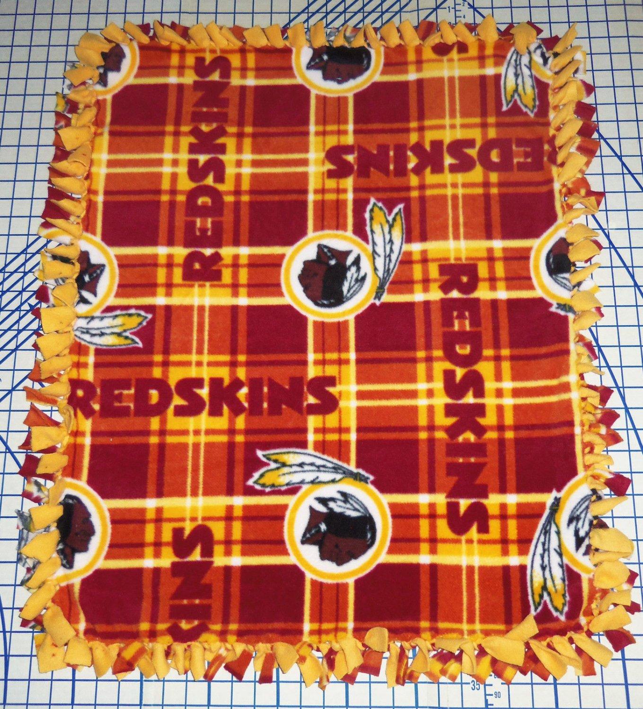 Washington Redskins Blanket Plaid Fleece Baby Pet Dog NFL Football Shower Gift