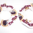 2 Washington Redskins Football Fabric Mini Hair Scrunchies Scrunchie NFL
