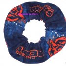 Chicago Bears Football Glow Fabric Hair Scrunchie Scrunchies NFL