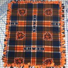 Chicago Bears Blanket Plaid Fleece Baby Pet Dog NFL Football Shower Gift