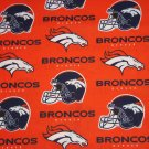 Denver Broncos Football Helmets  Orange Fabric Hair Scrunchie Scrunchies NFL
