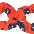 2 Denver Broncos Football Fabric Mini Hair Scrunchies Scrunchie NFL