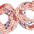 2 Denver Broncos Football White Fabric Mini Hair Scrunchies Scrunchie NFL