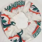 Miami Dolphins Football White fabric Hair Scrunchie Scrunchies NFL