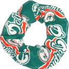 Miami Dolphins Football Teal fabric Hair Scrunchie Scrunchies NFL