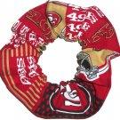 San Francisco 49ers Football Patchwork Fabric Hair Scrunchie Scrunchies NFL