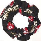 San Francisco 49ers Football Black Fabric Hair Scrunchie Scrunchies NFL
