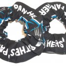 Carolina Panthers Hair Scrunchies Black Mini Fabric NFL Football Ties Pony Tail Set of 2
