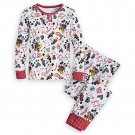 Disney Store Mickey and Minnie Mouse PJ PALS for Girls I Love Mickey Collection Size 6