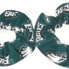Philadelphia Eagles Football Fabric Mini Haier Scrunchies Scrunchie NFL Set of 2