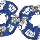 Indianapolis Clots Football Fabric Mini Hair Scrunchies Scrunchie NFL Set of 2