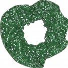 Green Bandana Print Fabric Hair Scrunchie Scrunchies By Sherry