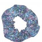 Blue Paisley Print Fabric Hair Scrunchie Scrunchies By Sherry