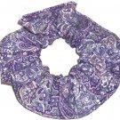 Purple Paisley Print Fabric Hair Scrunchie Scrunchies By Sherry
