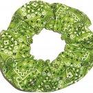 Lime Green Bandana Print Fabric Hair Scrunchie Scrunchies By Sherry
