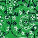 Green Pinwheel Bandana Print Fabric Hair Scrunchie Scrunchies By Sherry