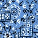 Blue Pinwheel Bandana Print Fabric Hair Scrunchie Scrunchies By Sherry