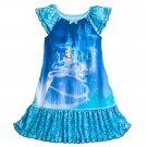 Disney Store Cinderella Nightshirt Girls Blue Size 7/8