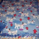 Dalmatians on Blue Fleece Baby Pet Lap Blanket