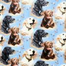 Retrivers Dogs on Blue Fleece Baby Pet Lap Blanket