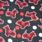 Scottie Dogs on Black Fleece Baby Pet Lap Blanket
