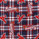 Atlanta Braves Plaid Fleece Blanket Hand Tied Baby Pet Dog Lap MLB Baseball