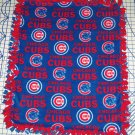 Chicago Cubs Blanket Baseball Hand Tied Toss Fleece Baby Pet Lap Dog MLB Red Blue