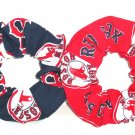 Boston Red Sox  Fabric Hair Ties Scrunchie Scrunchies by Sherry Set of 2 MLB Baseball