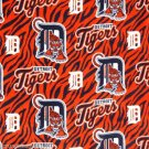 Detroit Tigers Striped Fleece Blanket Hand Tied Baby Pet Dog Lap MLB Baseball