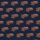 Detroit Tigers Mini Print Fabric Hair Ties Scrunchie Scrunchies by Sherry MLB Baseball