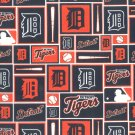 Detroit Tigers Patchwork Fabric Hair Ties Scrunchie Scrunchies by Sherry MLB Baseball