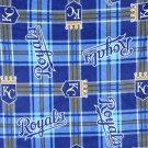 Kansas City Royals Plaid Fleece Baby Pet Dog Blanket MLB Baseball