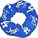 Los Angeles Dodgers Baseball Fabric Hair Scrunchie Scrunchies by Sherry MLB