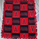 Los Angeles Angels Patchwork Fleece Blanket Hand Tied Baby Pet Dog Lap MLB Baseball