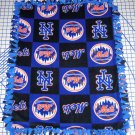 New York Mets Patchwork Fleece Blanket Hand Tied Baby Pet Dog Lap MLB Baseball