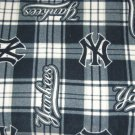 New York Yankees Plaid Fleece Baby Pet Lap Blanket MLB Baseball