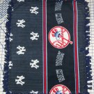 New York Yankees Border Fleece Baby Pet Lap Blanket MLB Baseball