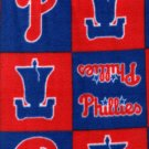 Philadelphia Phillies Patchwork Fleece  Blanket Baseball Hand Tied Baby Pet Dog Lap MLB