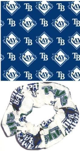 Tampa Bay Rays Baseball Fabric Hair Scrunchie Scrunchies MLB Set of 2