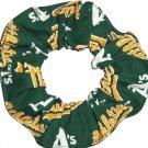 Oakland A's Fabric Hair Scrunchie Scrunchies MLB Baseball