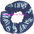 Seattle Mariners Fabric Hair Scrunchie Scrunchies by Sherry MLB Baseball
