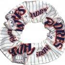 San Diego Padres Fabric Hair Scrunchie Scrunchies by Sherry MLB Baseball