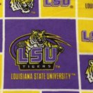 LSU Tigers Patchwork Fleece Blanket Hand Tied Baby Pet Dog Lap NCAA College