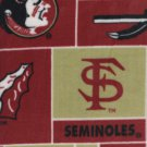 Florida State Seminoles Patchwork Fleece Blanket Hand Tied Baby Pet Dog Lap NCAA College