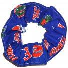 Florida Gators Blue Fabric Hair Ties Scrunchie Scrunchies by Sherry NCAA