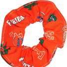 Florida Gators College Orange Fabric Hair Scrunchie Scrunchies by Sherry NCAA