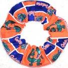 Florida Gators Orange Patchwork Fabric Hair Scrunchie Scrunchies by Sherry NCAA