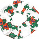 Florida Gators White Fabric Hair Scrunchie Scrunchies NCAA